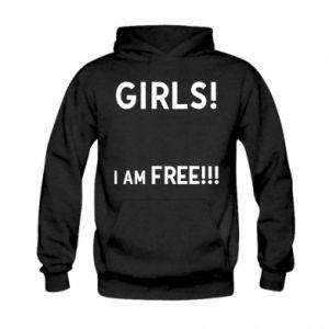 Bluza z kapturem dziecięca Girls I am free