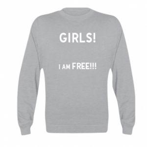 Bluza dziecięca Girls I am free