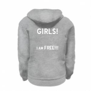 Bluza na zamek dziecięca Girls I am free