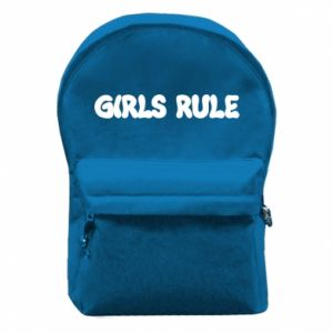 Backpack with front pocket Girls rule