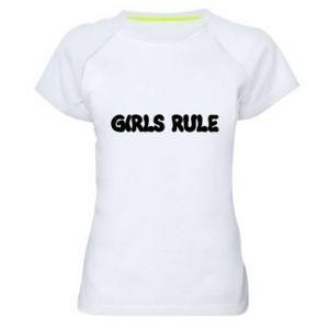 Women's sports t-shirt Girls rule