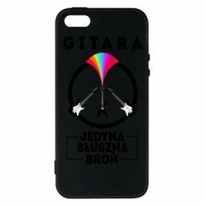 Phone case for iPhone 5/5S/SE The guitar is the only proper weapon