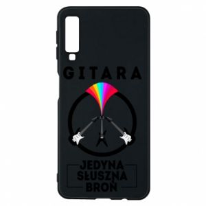 Phone case for Samsung A7 2018 The guitar is the only proper weapon