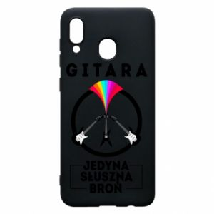Phone case for Samsung A20 The guitar is the only proper weapon