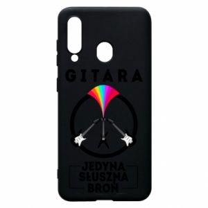 Phone case for Samsung A60 The guitar is the only proper weapon