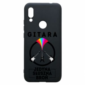 Phone case for Xiaomi Redmi 7 The guitar is the only proper weapon