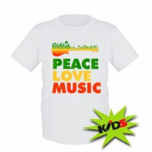 Dziecięcy T-shirt Gitara las