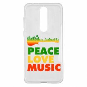 Nokia 5.1 Plus Case Guitar forest