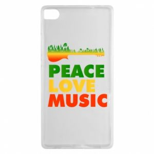 Huawei P8 Case Guitar forest