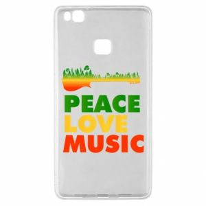 Huawei P9 Lite Case Guitar forest