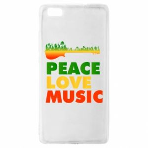 Huawei P8 Lite Case Guitar forest