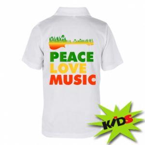 Dziecięca koszulka polo Gitara las