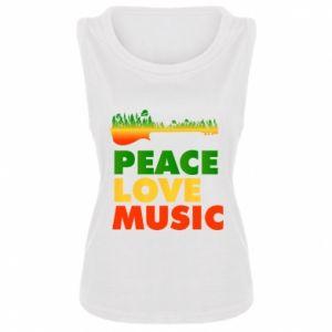 Damska koszulka bez rękawów Gitara las