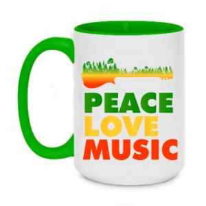 Two-toned mug 450ml Guitar forest