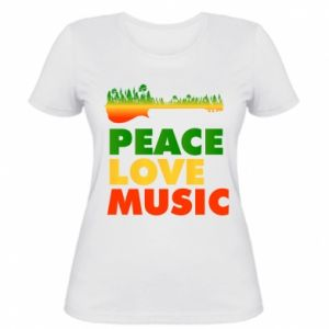 Women's t-shirt Guitar forest