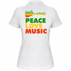 Damska koszulka polo Gitara las