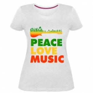 Damska premium koszulka Gitara las