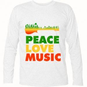 Koszulka z długim rękawem Gitara las