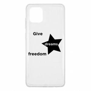 Etui na Samsung Note 10 Lite Give dreams freedom