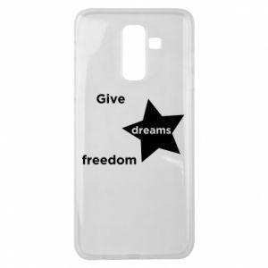 Etui na Samsung J8 2018 Give dreams freedom