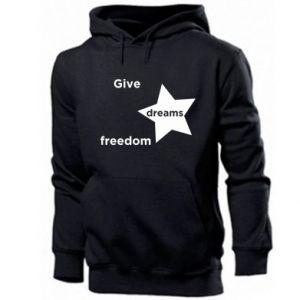 Męska bluza z kapturem Give dreams freedom