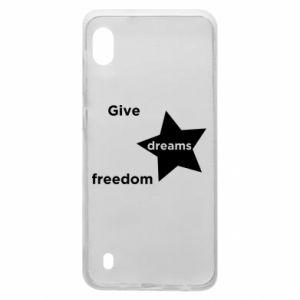 Etui na Samsung A10 Give dreams freedom