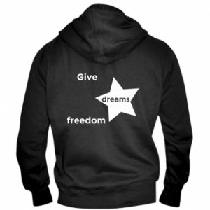Męska bluza z kapturem na zamek Give dreams freedom