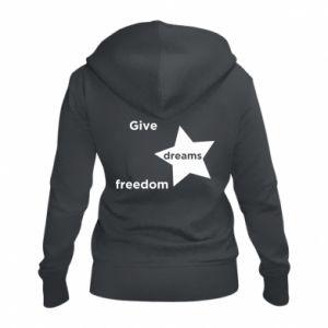 Damska bluza na zamek Give dreams freedom