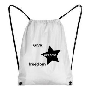 Plecak-worek Give dreams freedom