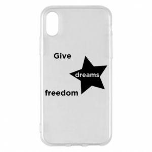 Etui na iPhone X/Xs Give dreams freedom