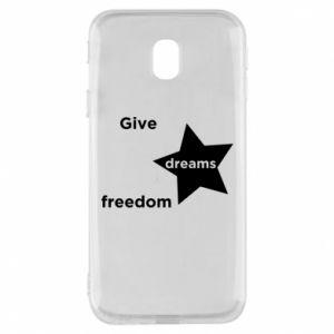 Etui na Samsung J3 2017 Give dreams freedom