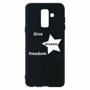 Etui na Samsung A6+ 2018 Give dreams freedom