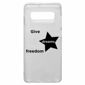 Etui na Samsung S10+ Give dreams freedom