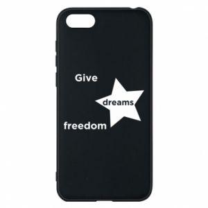 Etui na Huawei Y5 2018 Give dreams freedom