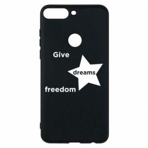 Etui na Huawei Y7 Prime 2018 Give dreams freedom