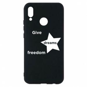 Etui na Huawei P20 Lite Give dreams freedom
