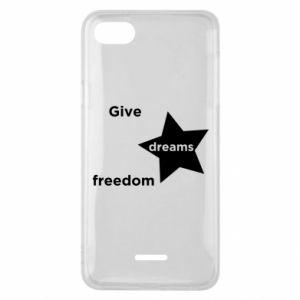 Etui na Xiaomi Redmi 6A Give dreams freedom