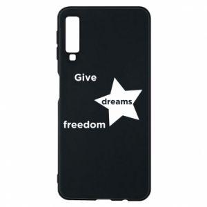 Etui na Samsung A7 2018 Give dreams freedom
