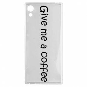 Etui na Sony Xperia XA1 Give me a coffee