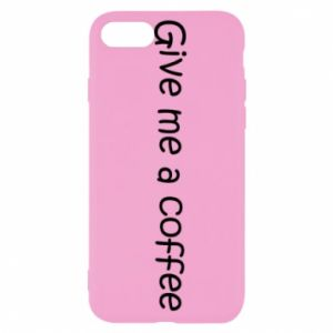 Etui na iPhone SE 2020 Give me a coffee