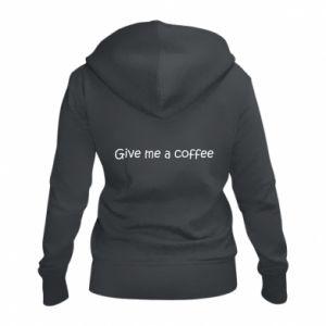 Damska bluza na zamek Give me a coffee
