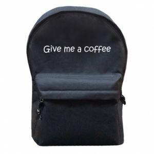 Plecak z przednią kieszenią Give me a coffee
