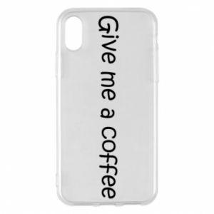 Etui na iPhone X/Xs Give me a coffee