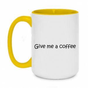 Kubek dwukolorowy 450ml Give me a coffee