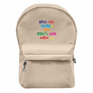 Plecak z przednią kieszenią Give me candy, but don't tell mom ...