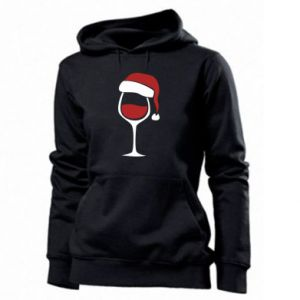 Damska bluza Glass of wine in christmas hat