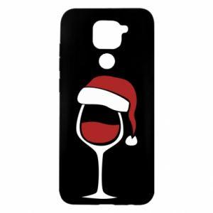 Etui na Xiaomi Redmi Note 9/Redmi 10X Glass of wine in christmas hat