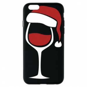 Etui na iPhone 6/6S Glass of wine in christmas hat
