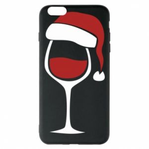 Etui na iPhone 6 Plus/6S Plus Glass of wine in christmas hat
