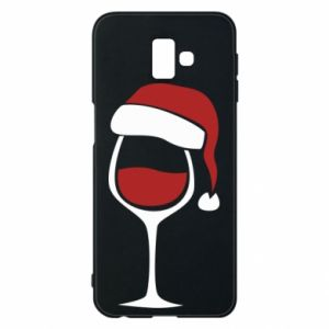 Etui na Samsung J6 Plus 2018 Glass of wine in christmas hat